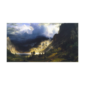 Ein Sturm in Rocky Mountains Leinwanddruck
