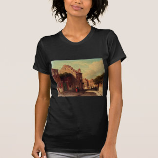 Ein Sunlit Townview mit den Zahlen, die durch T-Shirt