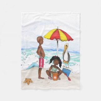Ein Tag am Strand Fleecedecke