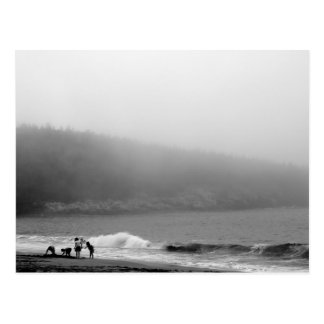 Ein Tag am Strand - Maine Postkarte