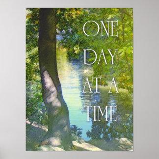 Ein Tag ducken auf einmal Teich-Plakat Poster