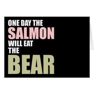 Ein Tag essen die Lachse den Bären Karte