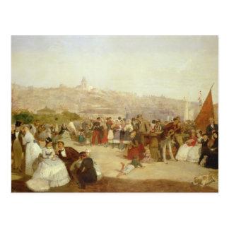 Ein Tag in Boulogne, 1870 (Öl auf Leinwand) Postkarte