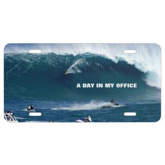 Ein Tag in meiner Büro-kundenspezifischen US Nummernschild