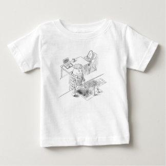Ein Tag mit Vati Baby T-shirt