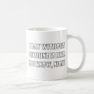 Ein Tag ohne Sonnenschein ist wie, Sie wissen, Kaffeetasse