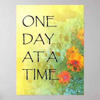 Ein Tagesauf einmal (ODAT) Fliedern u. -mohnblumen Poster