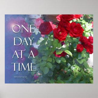 Ein Tagesauf einmal Rosen-Plakat Poster