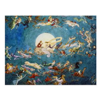 Ein Tanz um den Mond-Druck Postkarte