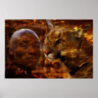 Ein tapferer Krieger in Südafrika Poster