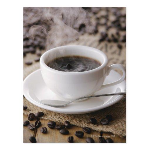 Ein Tasse Kaffee Postkarte