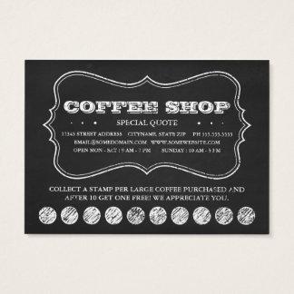 EIN TASSE KAFFEE-Tafel-Lochkarten Jumbo-Visitenkarten