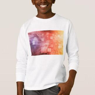 Ein Technologie-Industrie-Netz als Tapete T-Shirt