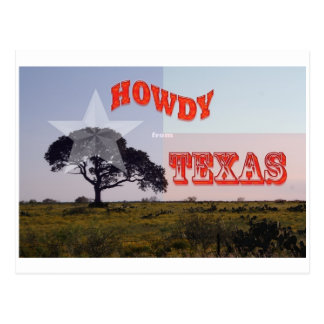 Ein Texas grüß dich! Postkarte
