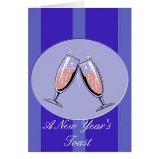 Ein Toast des neuen Jahres Karte
