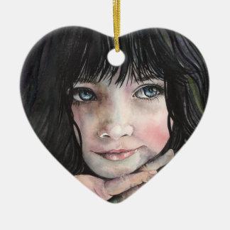 Ein Traum ist ein Wunsch…. Keramik Herz-Ornament