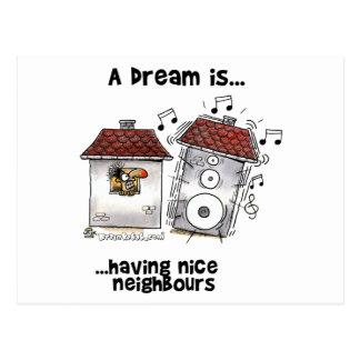 Ein Traum ist… Nizza Nachbarn haben Postkarte