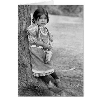 Ein Umatilla Mädchen Karte