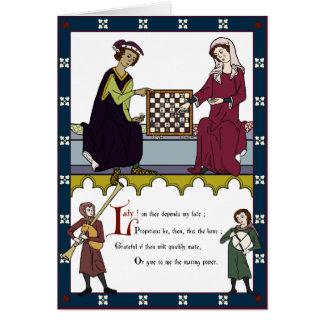 Ein Valentinsgruß für Schach-Liebhaber Karte