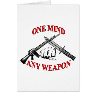 Ein Verstand irgendeine Waffe MCMAP Karte