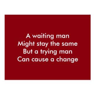 Ein versuchender Mann motivierend Postkarte