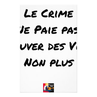 Ein VIES Verbrechen zahlt sich nicht aus auch Briefpapier