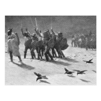Ein Viking-Beutezug Postkarte