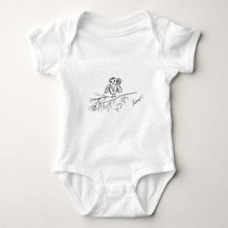Ein Vogel, die Vorlage tweeten Baby Strampler