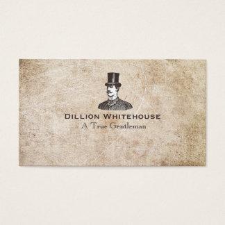 Ein wahrer Herr in Zylinder gealtertem Visitenkarten