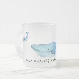 Ein Wal einer Zeit-Tasse Mattglastasse