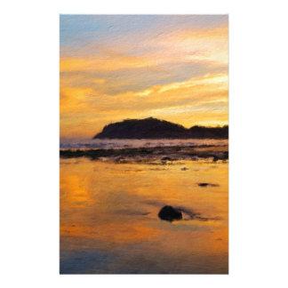 Ein Waliser-Sonnenaufgang, Llandudno, Wales Briefpapier