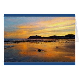 Ein Waliser-Sonnenaufgang, Llandudno, Wales Karte