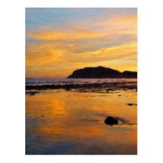 Ein Waliser-Sonnenaufgang, Llandudno, Wales Postkarte