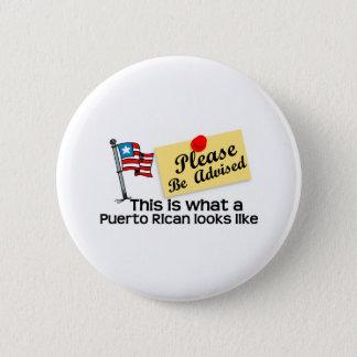 ein was für puertorikanischer Blick mögen Runder Button 5,1 Cm
