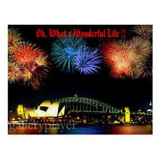 Ein was für wunderbares Leben Postkarte