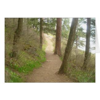 Ein Weg durch den Wald Karte