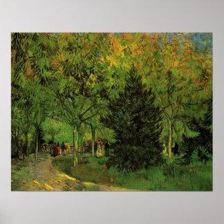Ein Weg im Allgemeinen Garten bei Arles Poster