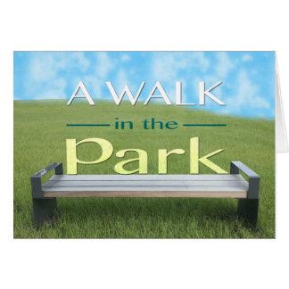 Ein Weg im Parkgruß Mitteilungskarte