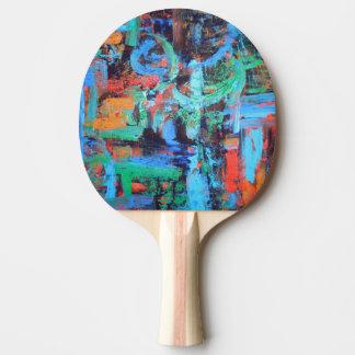 Ein Weg in den Wald-Abstrakten KunstBrushstrokes Tischtennis Schläger