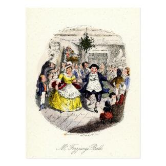 Ein Weihnachten Carol - Herr Fezziwigs' Ball Postkarte