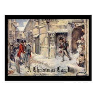 Ein Weihnachten Carol Postkarte