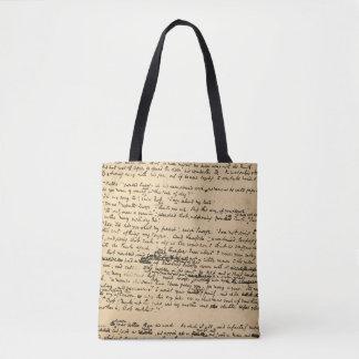 Ein Weihnachtscarol-Vorlagen-Manuskript Tasche