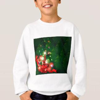 Ein Weihnachtsentwurf mit beleuchteten Kerzen Sweatshirt