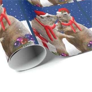 Ein Weihnachtskuss-Packpapier Geschenkpapier