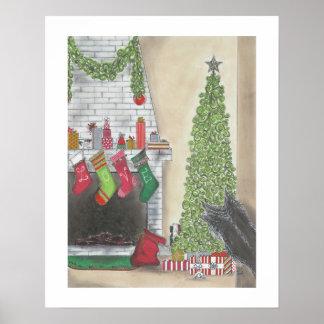Ein Weihnachtsüberraschungs-Druck Poster