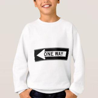 Ein Weisen-Pfeil-(links) Landstraßen-Zeichen Sweatshirt