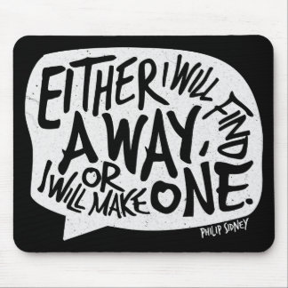 Ein Weisen-Typografie-motivierend Zitat Mousepad