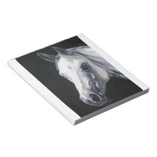 Ein weißes Pferd Notizblock