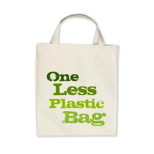 Ein weniger Plastiktasche Tragetasche