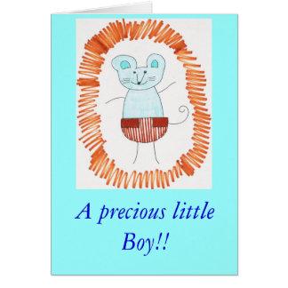 Ein wertvoller kleiner Junge!! Grußkarte